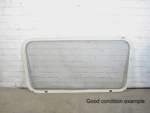 Replacement Rear Window Screen Frame for Vintage Airstream Trailers Mid Opening 44x24