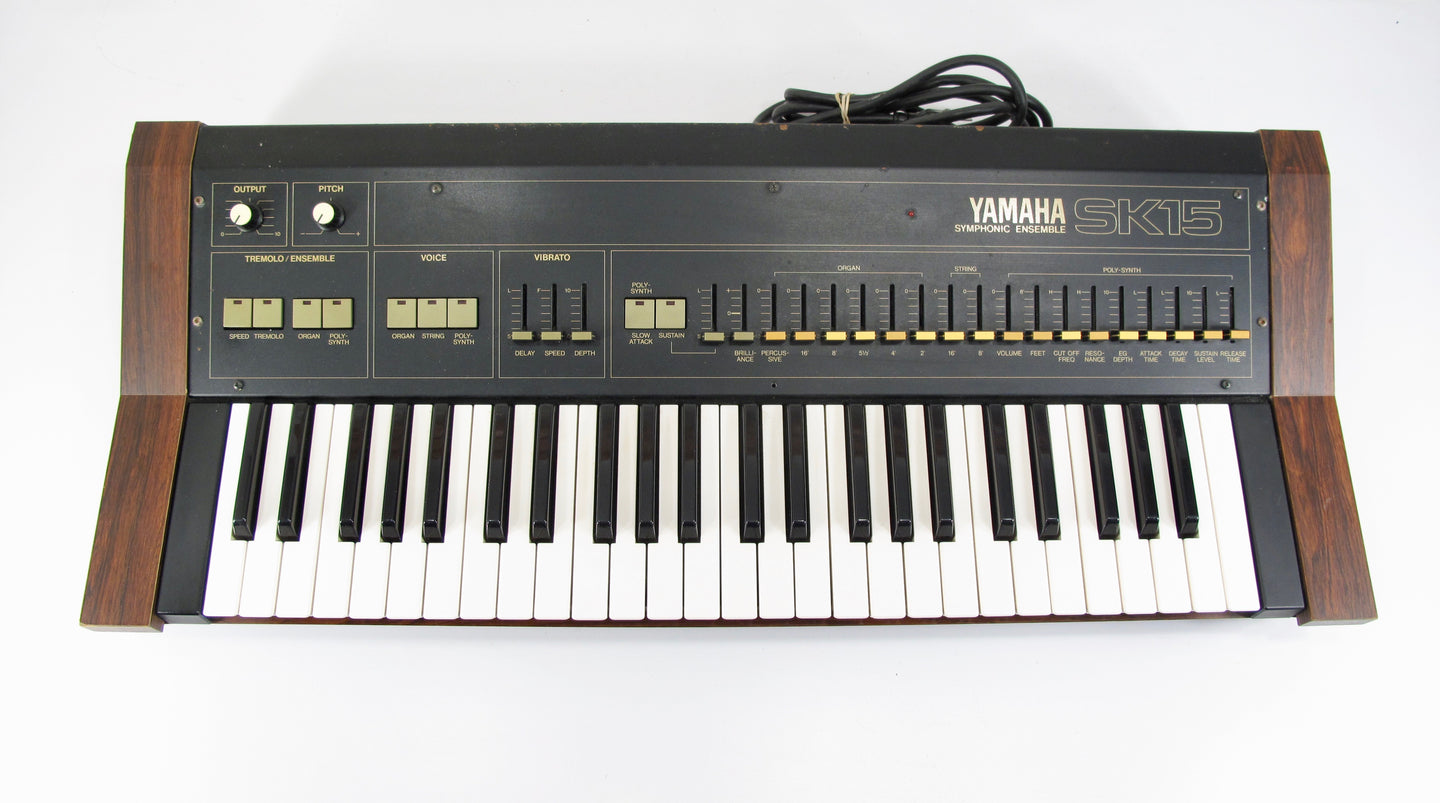Yamaha SK15 Vintage 70s/80s Symphonic Ensemble Analog Keyboard Strings & Organ with Case
