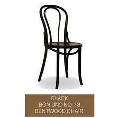 bon uno no. 18 bentwood chair - black