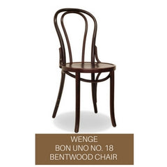 bon uno no. 18 bentwood chair - wenge (dark walnut)