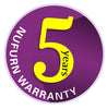 5 year commercial warranty