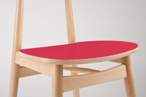 paged bentwood chair - red