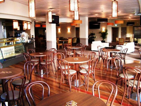 bentwood chairs - restaurant