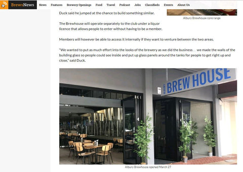 Brews News - Albury Brew House