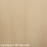 Werzalit Cafe Table Top - Light beech