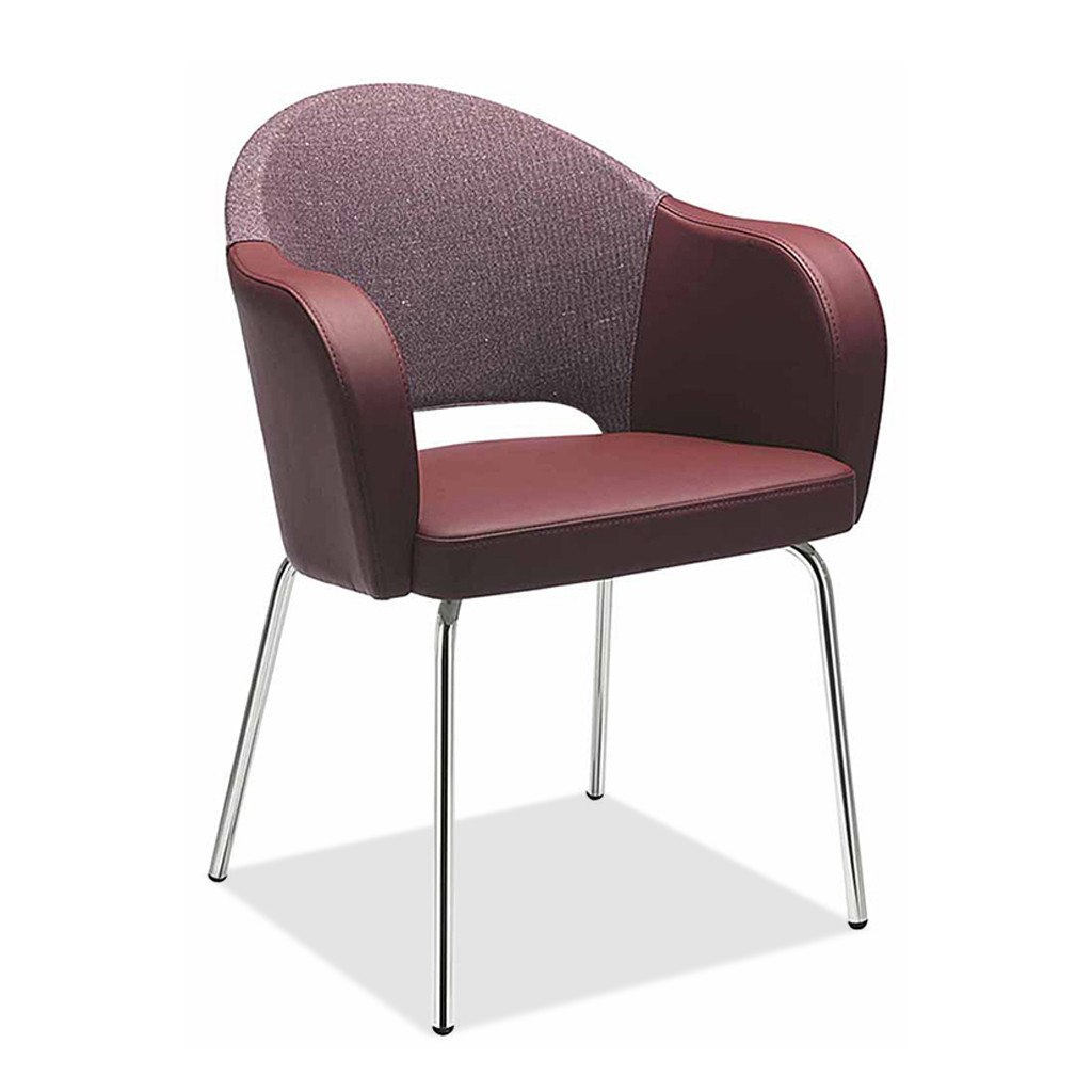 Agatha 047 Steel Tub Chair by Metalmobil - Restaurant Tub Chair - Nufurn Commercial Furniture