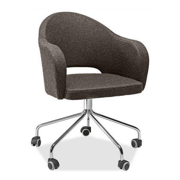 office tub chair with castors - agatha