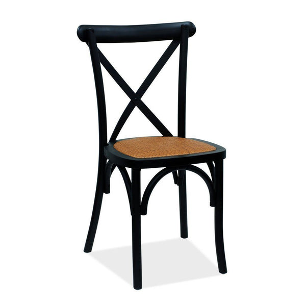Athena Two Cross Back Chair - Black