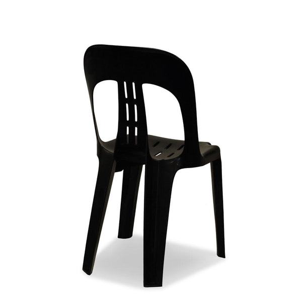 Barrel Plastic Stacking Chair Black Nufurn