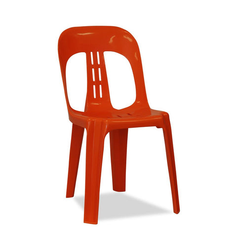 Barrel - Plastic Stacking Chairs - Orange - Nufurn Commercial Furniture