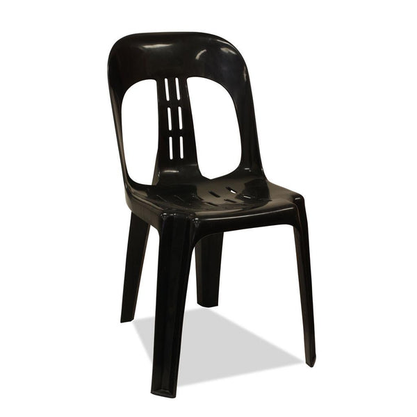 Barrel - Plastic Stacking Chair - Black - Nufurn Commercial Furniture
