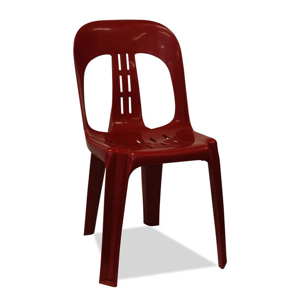 Barrel - Plastic Stacking Chair - Burgundy - Nufurn Commercial Furniture