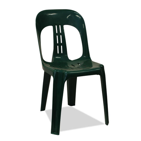 Barrel - Plastic Stacking Chair - Green - Nufurn Commercial Furniture