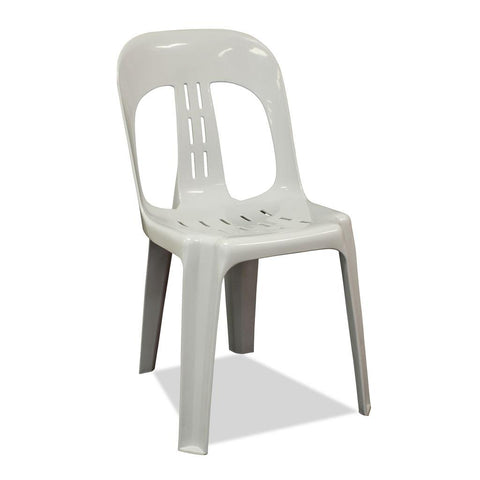 Barrel - Plastic Stacking Chair- Grey - Nufurn Commercial Furniture