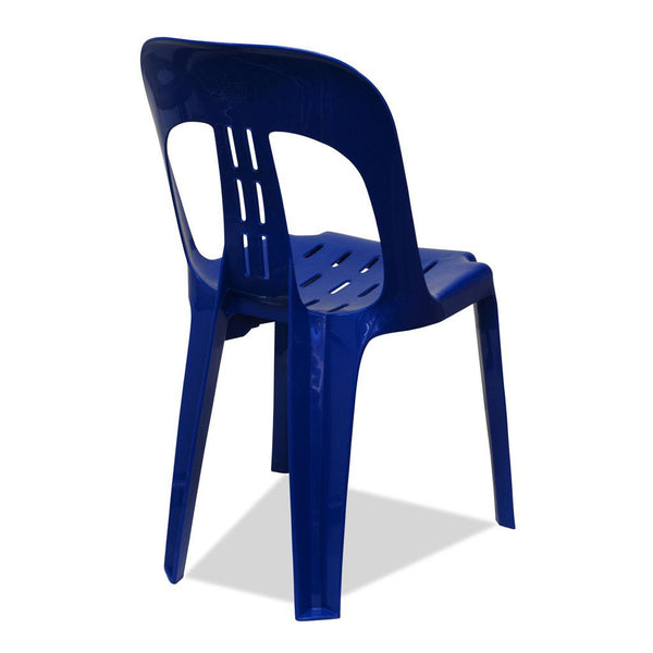 Barrel Plastic Stacking Chairs Blue Nufurn