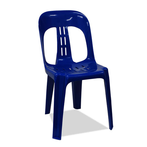 Barrel - Plastic Stacking Chairs - Blue - Nufurn Commercial Furniture