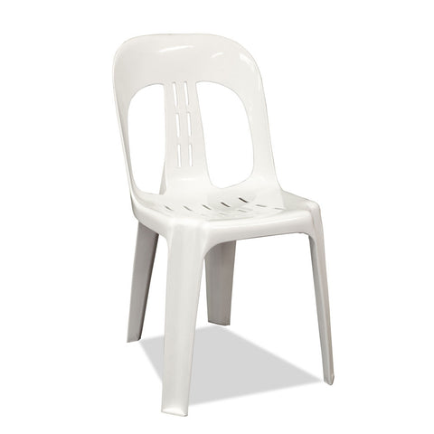 Barrel - Plastic Stacking Chairs - White - Nufurn Commercial Furniture