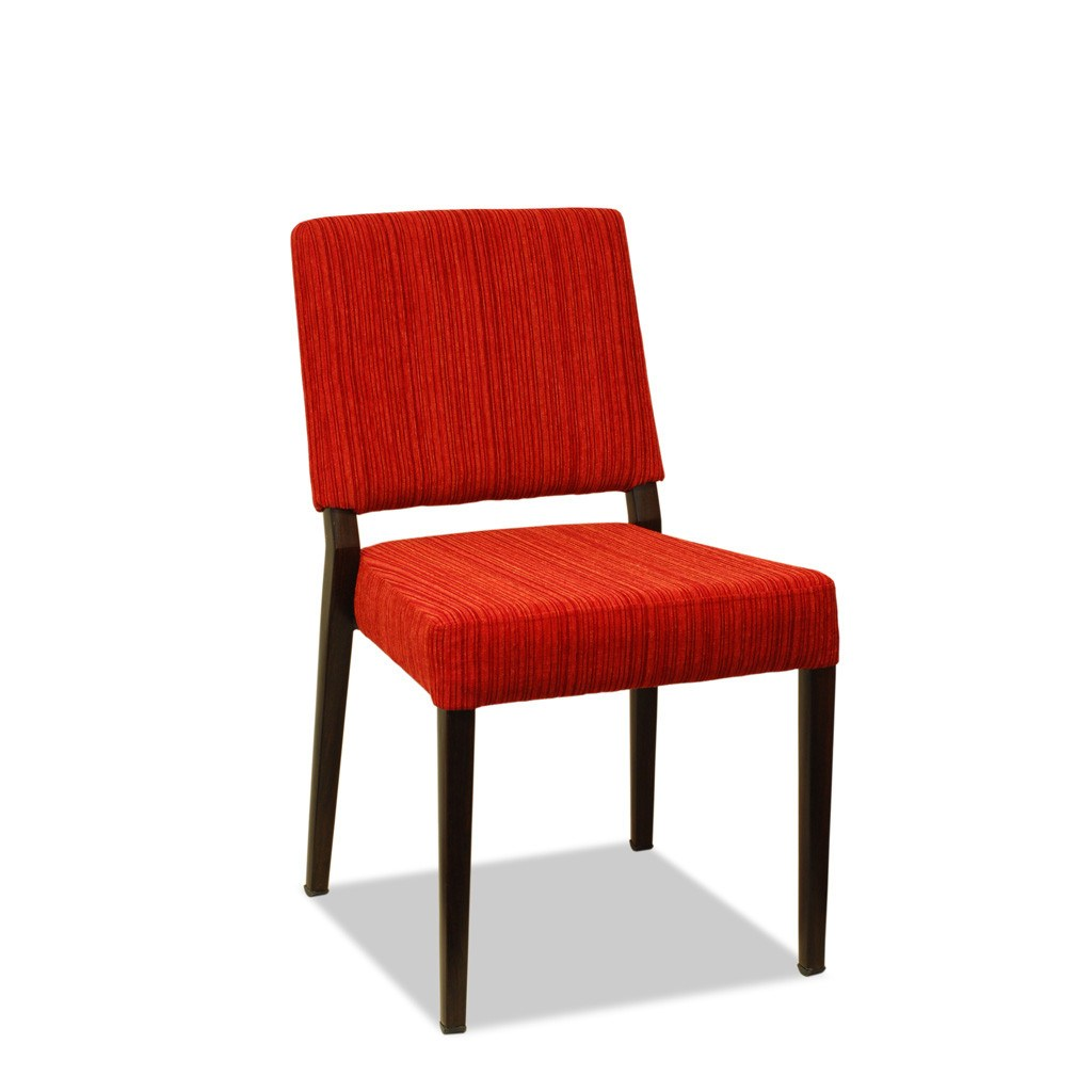 Basel Restaurant Chair: Aluminium Wood Look : Nufurn Plus Range   Nufurn Commercial  Furniture