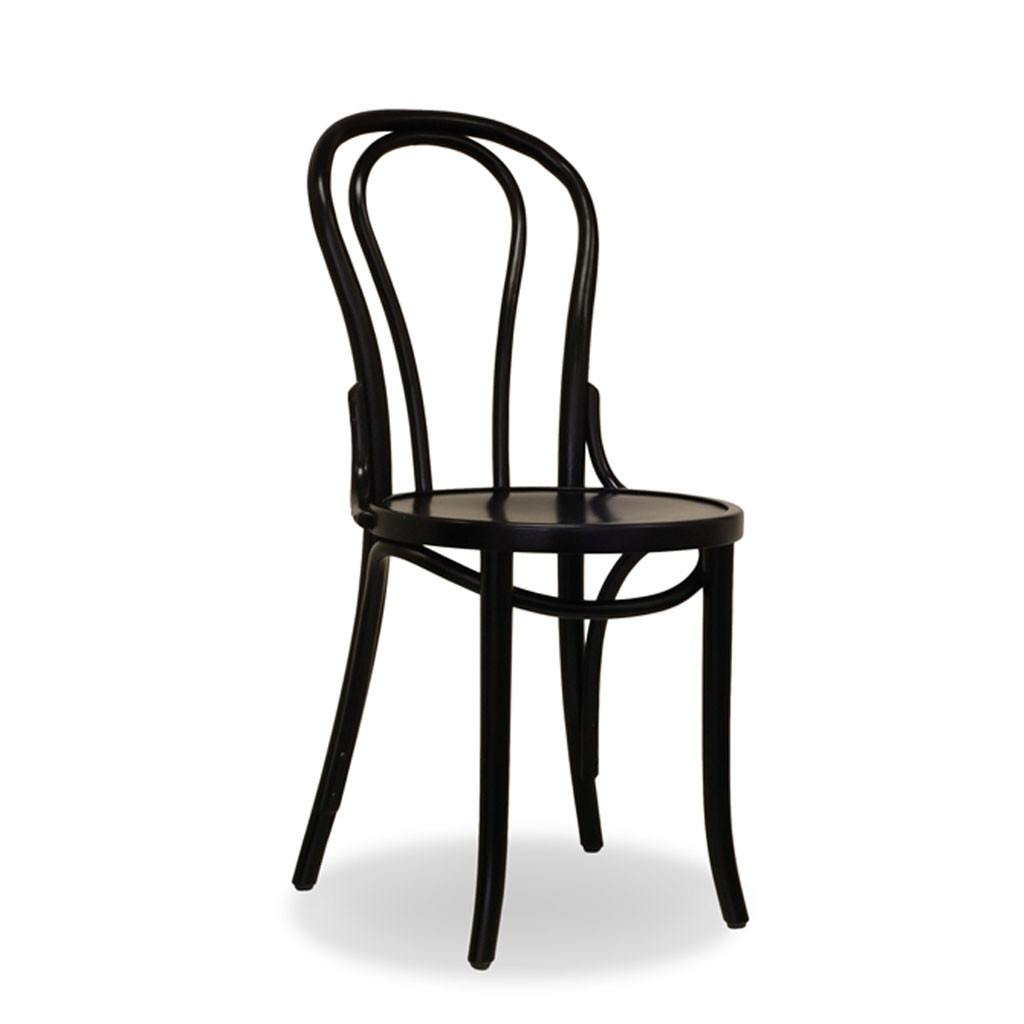 Bon Uno Bentwood Chair - Black - Restaurant and Cafe Chair - Nufurn Commercial Furniture