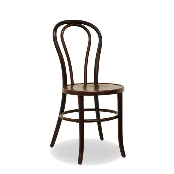 Bon Uno S - Stacking Bentwood Chair - Wenge - Restaurant and Cafe Chair - Nufurn Commercial Furniture