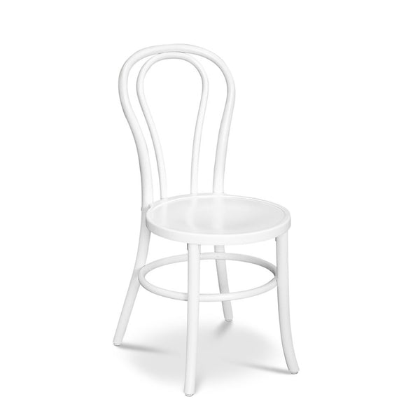 Bon Uno S - Stacking Bentwood Chair - White - Restaurant and Cafe Chair - Nufurn Commercial Furniture