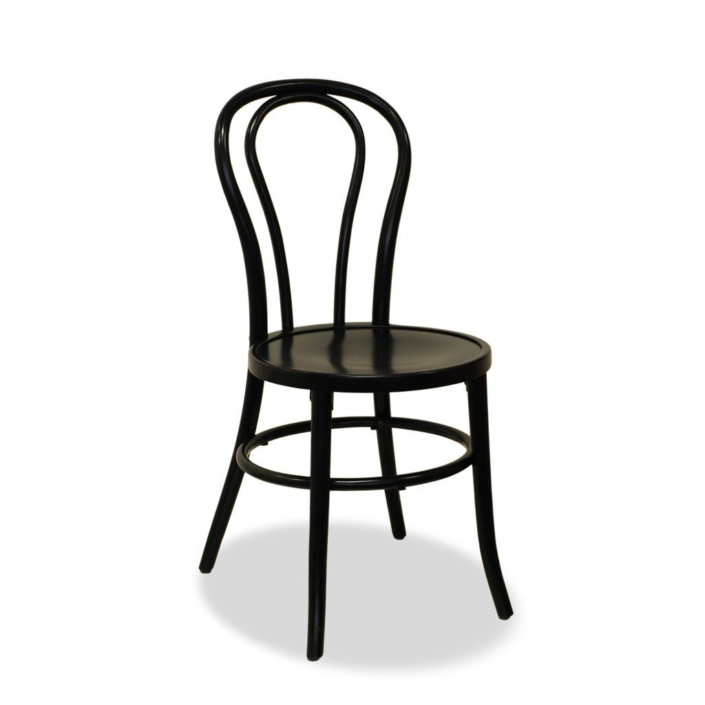 Genial Stacking Bentwood Chair   Black   Bon Uno S