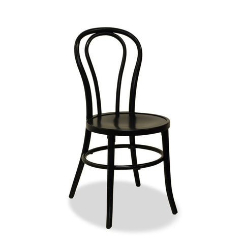 stacking bentwood chair - black - bon uno S