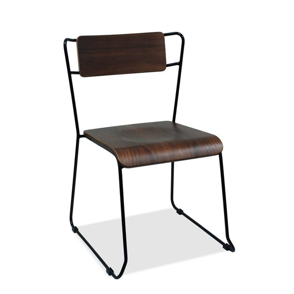 timber and steel cafe chair - burnley