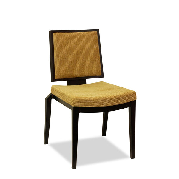 CBD 19 Lowback Restaurant Chair : Aluminium Wood Look - Nufurn Commercial Furniture