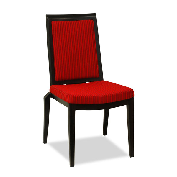CBD 21 Highback Restaurant Chair : Aluminium Wood Look - Nufurn Commercial Furniture