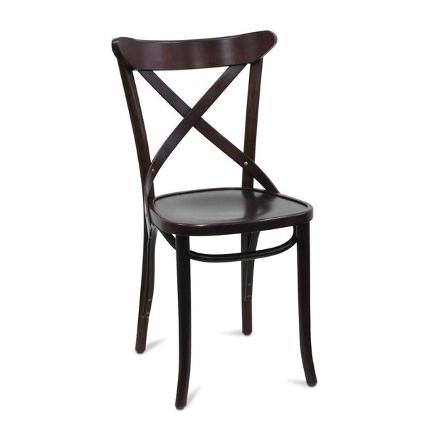 Calvi Cross Back Bentwood Chair - Wenge