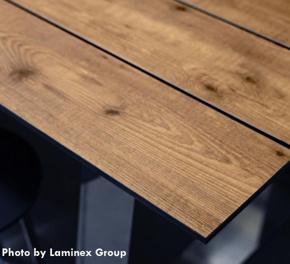 restaurant table - compact laminate table top
