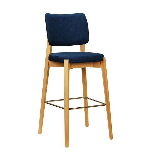 Timber High Back Bar Stool - Taira