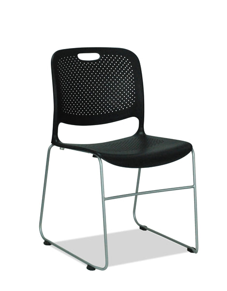 BLACK SLED CHAIR - PHOENIX - STACKABLE