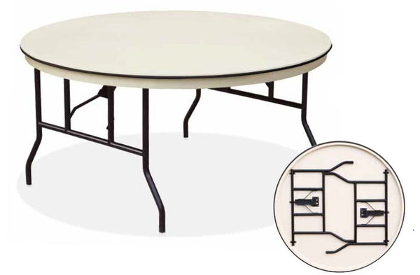 Eventpro lite 5ft round folding table event table for 5ft coffee tables