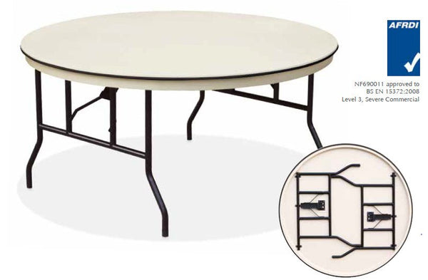banquet round folding table - eventpro-lite 6ft