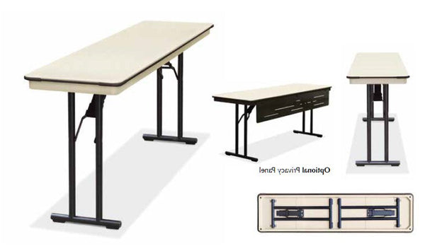 banquet trestle folding table - eventprolite 6ft seminar