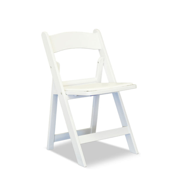 Americana Resin Folding Chairs Nufurn Gladiator White