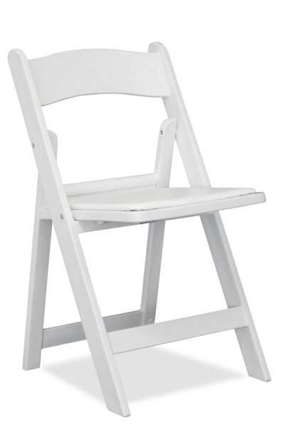 Nufurn Gladiator - Resin Folding Chair - White