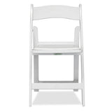 white folding chair - americana chair