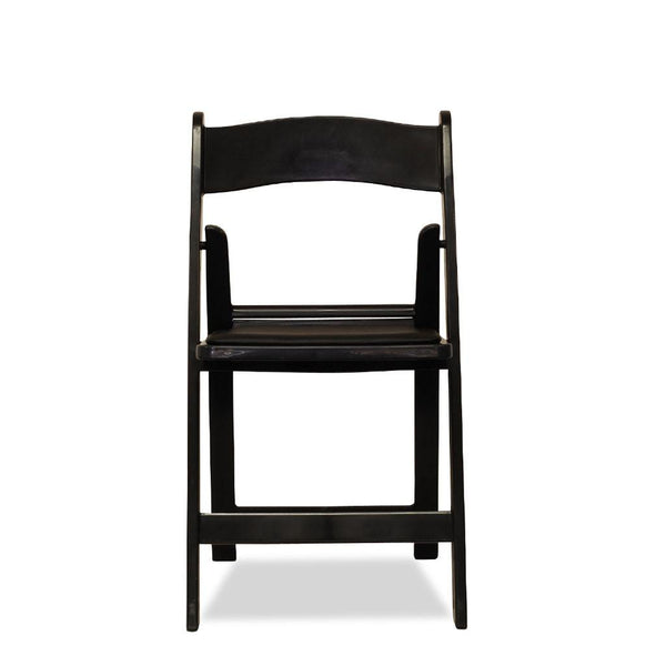 Americana Resin Folding Chairs Nufurn Gladiator Black