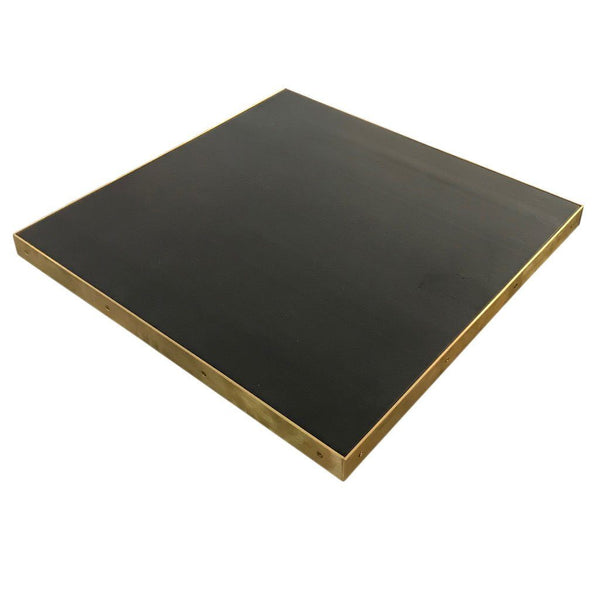 brass edge table top