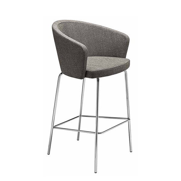 Kicca stool with 4 legs steel frame - commercial furniture