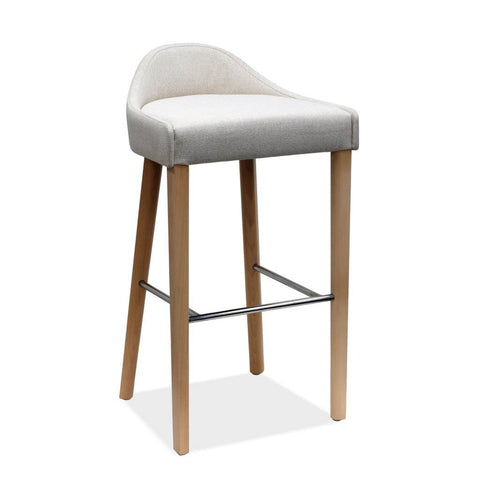 timber and metal bar stool - lubi
