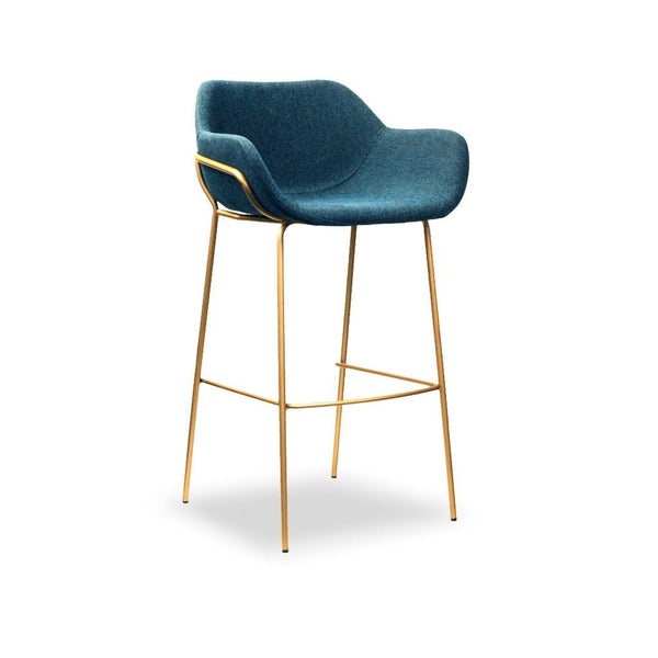 high back bar stool - Malory