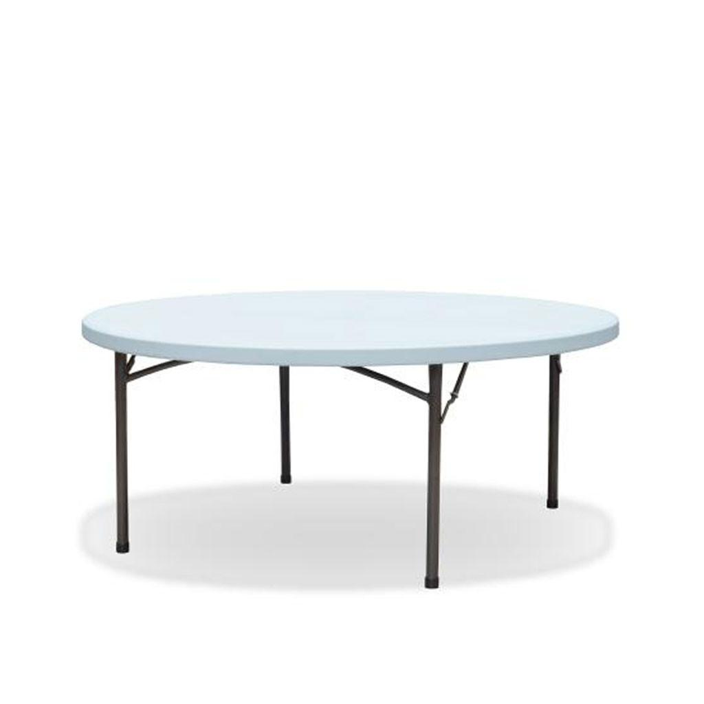 Max tough 6ft round folding table nufurn commercial for 6ft round dining table