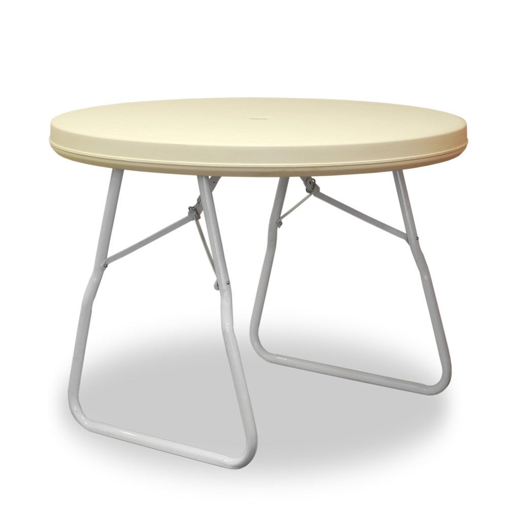 Max Tough - 3ft Round Folding Table with Umbrella Hole