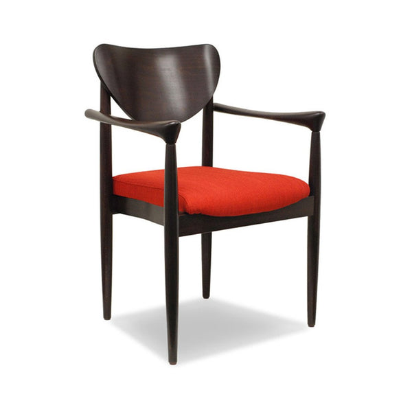 Pia Arm Chair: UPH Seat - Indoor Restaurant Chair