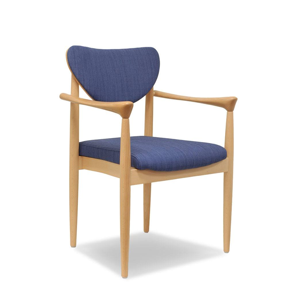 Pia Arm Chair: UPH Back & Seat - Indoor Restaurant Chair
