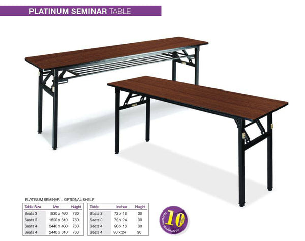 Platinum Narrow Seminar Folding Tables Nufurn Commercial